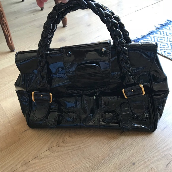 83fff6ea22 Valentino Histoire Black Patent Leather Satchel. M_5b199e8d194dadd19efd284e